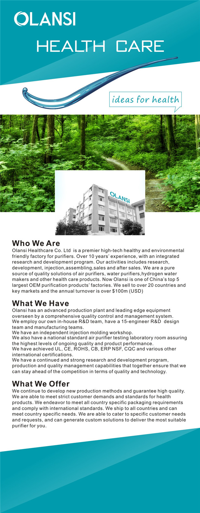 air purifier factory